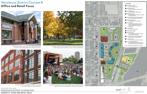 Warehouse District Alternatives - Concept B. (Photo from: City of Green Bay).