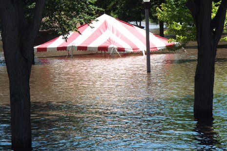 Tent in City Park, Luverne.  Courtesy Stan Allen