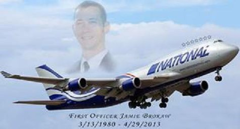 Jamie Brokaw was the First Officer on board the flight.