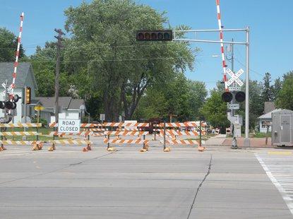 Vine Avenue railroad crossing in Marshfield, WI