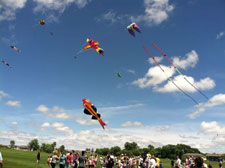 American Kite Association member Mike Gee, Jamestown, N.D., flies massive demonstration kites during the 2013 Kite and Bike Festival. (SDSU.edu)