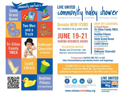 United Way Community Baby Shower Flyer