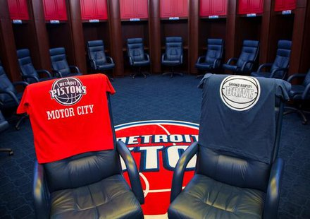 Grand Rapids Drive, the minor league affiliate of the Detroit Pistons. Image courtesy Detroit Pistons.