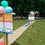 The new Born Learning Trail at the Brown County Southwest Library. (Photo Copyright Midwest Communications, Inc.)