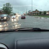 Flooding in the streets of Canton, SD. Photo courtesy of Amy Roseland. Used with permission.