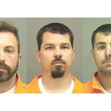 From left to right: Tyler Reed, Thomas Fagan, and David Radandt (Photo from: Manitowoc County Sheriff's Office).