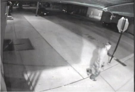 A video still of the suspect who is accused of entering Johnny's Bike Stop and stealing a bike and bike rack.