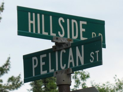 Hillside Rd and Pelican St intersection in Rhinelander