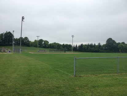 A view of one of the athletic fields the Random Lake School District wants to improve with a referendum.
