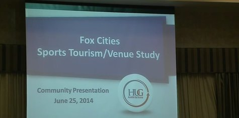 Stakeholders gathered in Neenah to see a presentation of the Fox Cities Sports Tourism and Venue Study on June 25, 2014. (Photo by: FOX 11/YouTube).