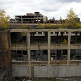 A view of part of the former Packard plant, taken from a rooftop of a neighboring part of the structure. (Photo courtesy of Csmcm by way of Wikimedia Commons.)
