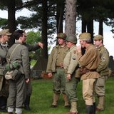 World War II Living History participants at The Highground memorial grounds west of Neillsville, WI.