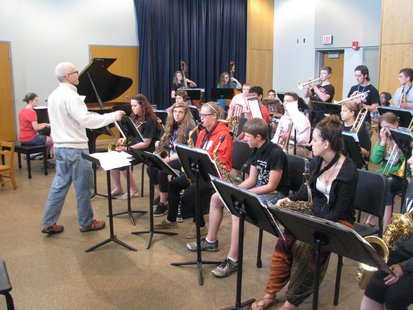 Jazz Ensemble group at UWSP's Camp COFAC