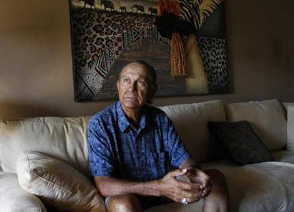 American Indian activist Russell Means poses for a portrait at his home in Scottsdale, Arizona, October 28, 2011. CREDIT: REUTERS/JOSHUA LOTT