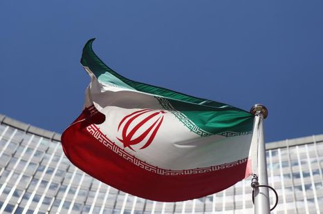 An Iranian flag flutters in front of the United Nations headquarters in Vienna June 17, 2014. Credit: Reuters/Heinz-Peter Bader
