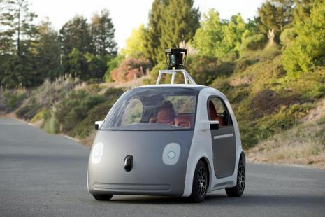 A prototype self-driving car by Google is shown in this publicity photo released to Reuters June 27, 2014.  REUTERS/Google/Handout via Reuters