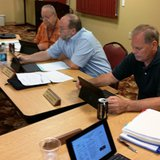 Community Health Center of Branch County trustees (l-r) Ron Sampsel, Mike Iveson, and Lindy Cox at their June 30, 2014 meeting