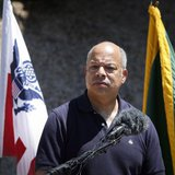 Department of Homeland Security Secretary Jeh Johnson speaks to the media at the Nogales Border Patrol Station in Nogales, Arizona June 25, 2014. CREDIT: REUTERS/NANCY WIECHEC