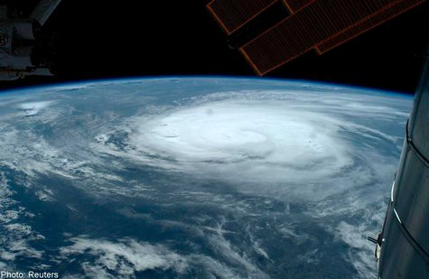 Hurricane Arthur from International Space Station (Reuters)