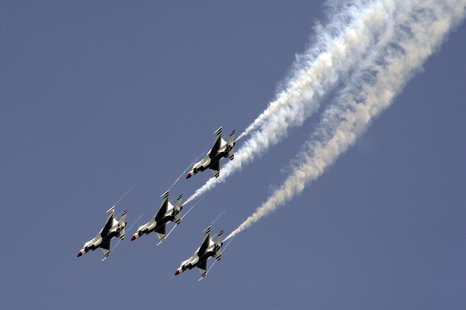 The Thunderbirds in performance.