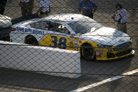 The #38 Ford Fusion, driven by NASCAR Sprint Cup driver, David Gilliland.