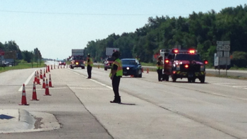Highway 29 crash in Brown County.  Photo courtesy of WLUK.