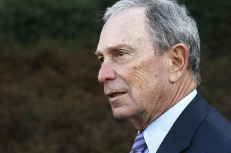Former New York City Mayor Michael Bloomberg talks to reporters after meeting with U.S. President Barack Obama and business and civic leaders for an event to discuss Obama's ''My Brother's Keeper'' initiative at the White House in Washington, February 27, 2014. CREDIT: REUTERS/JONATHAN ERNST