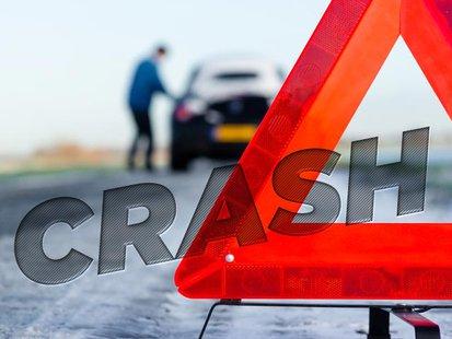 Vehicle crash image copyright Midwest Communications, Inc. 2014
