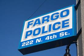 Sign outside of the Fargo police department copyright KFGO news 2014