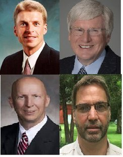 6th Congressional Republican Candidates Joe Leibham (top left), Glenn Grothman (top right), Duey Stroebel (bottom left), and Tom Denow (bottom right).
