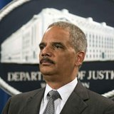 U.S. Attorney General Eric Holder stands during a news conference in Washington June 30, 2014. CREDIT: REUTERS/JOSHUA ROBERTS