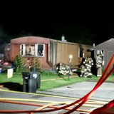 Firefighters on the scene of a fire in Riviera Heights Mobile Home Court in Fargo