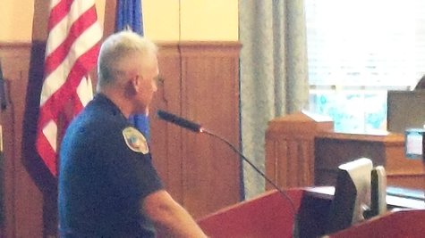 Chief Jeff Hadley addresses the Commission