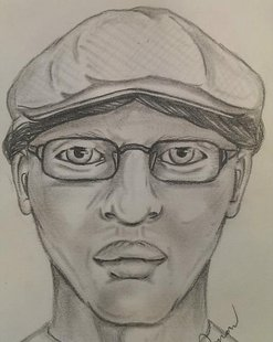 Artists sketch of the bank robber.
