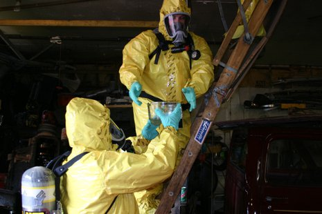 Meth clean-up.  Photo, courtesy of the Department Of Justice