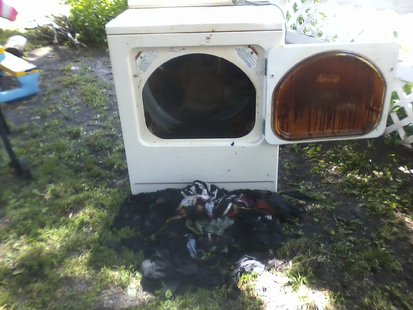 Dryer fire in Wahpeton