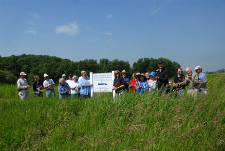 Members and friends of the Great Lakes Conservancy help dedicate their latest nature preserve in Two Rivers.