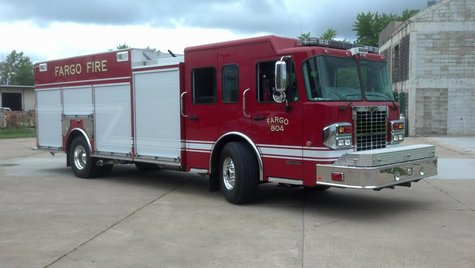 The Fargo Fire Department gets a new rescue-pumper truck