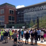 Rededication of Harlan PLaza.  Photo courtesy of WLUK.