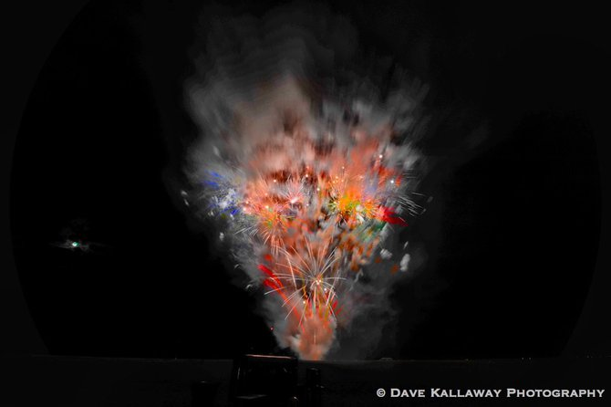 One of the crazier fireworks explosions..like throwing paint on a canvas!!