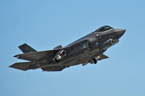 An F-35A Lightning II Joint Strike Fighter takes off on a training sortie at Eglin Air Force Base, Florida in this March 6, 2012 file photo. CREDIT: REUTERS/U.S. AIR FORCE PHOTO/RANDY GON/HANDOUT