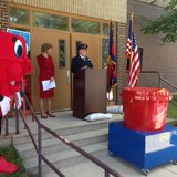 Salvation Army of Brown County officials announce the Christmas in July campaign, July 16, 2014. (Photo from: FOX 11).