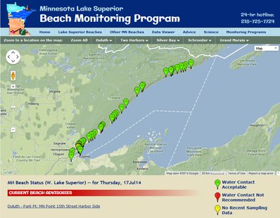 MN Lake Superior Beach Monitoring Program