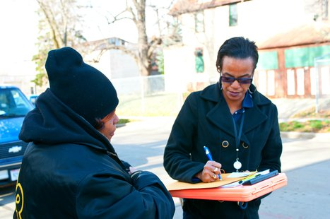 An Advocate Working in the Field for Community Advocates in Milwaukee. (Photo from: Communityadvocates.net).