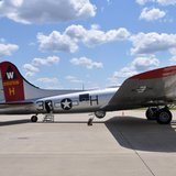 Aluminum Overcast, EAA's B-17 bomber, visits Austin Straubel International Airport in Ashwaubenon, July 17, 2014. (Photo from: FOX 11).