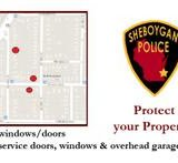 A map of the affected areas where unattached garages has been burglarized in Sheboygan.