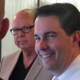 John Noel (L) and Governor Scott Walker (R).