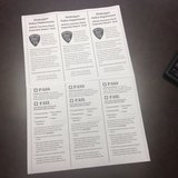 A view of the courtesy check cards Sheboygan Police will be using during a vehicle check this summer.