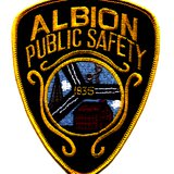 Albion Police finally managed to cuff the suspect and take him into custody.