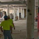 A view of work being done on the old Larsen Cannery as part of Titletown Brewing Company's expansion. (Photo from: FOX 11/YouTube).